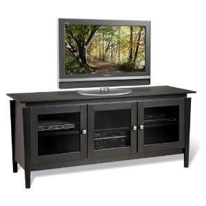 Black Vinci Flat Panel Plasma / LCD TV Console   Prepac