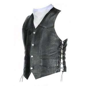 BKRider Mens Classic Leather Vest Automotive