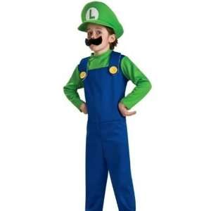 Super Mario Luigi Childrens Costume Size X Large (14 16