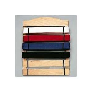 Six Level Martial Arts Karate Belt Display:  Sports