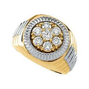 Beautiful Rolex style 14k High Polish Yellow gold White gold Mens 11