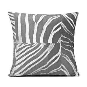 20 Gray & White Zebra Microfiber Throw Pillow Cover