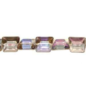 T0151 12 Crystal glass faceted nugget beads with AB finish
