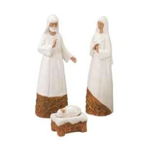 Terracotta Holy Family Nativity Set