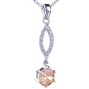 November Yellower Crystal Pendant Necklace Jewelry Pugster Jewelry