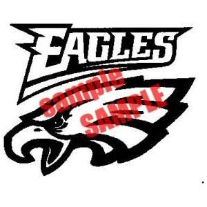 EAGLES NFL TEAM WHITE VINYL DECAL STICKER