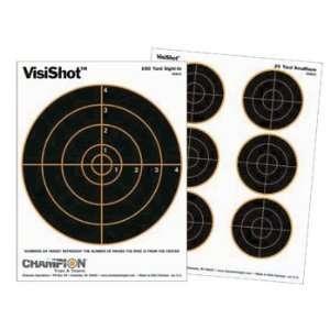 VisiShot Paper Targets, 8 Bulls, 8.5x11   10pk Sports