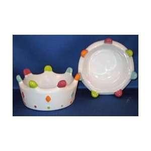 Rainbow Crown Dog Pet Bowl by Petrageous Designs Kitchen