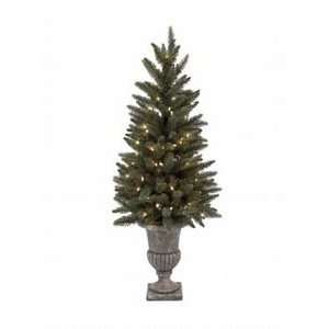 Pre Lit Small Christmas Tree Potted in Urn 4