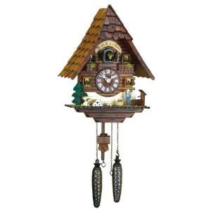 Quartz Cuckoo Clock Black forest house Wälderhof, incl