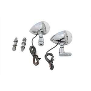 LED Bullet Turn Signal Set Front with Mounting Bracket Automotive