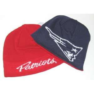 Apparel Red & Navy Reversible Knit Beanie Hat  Sports