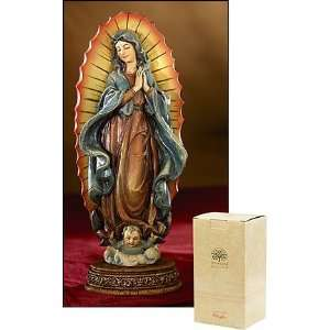 Lady of Guadalupe Virgin Mother Mary Statue Catholic Christian Figure