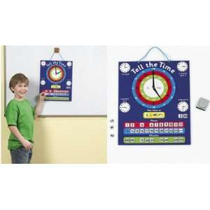 Telling Time Magnetic Chart Set   Teaching Supplies