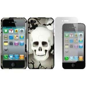 Cross Skull Design Hard Case Cover+LCD Screen Protector