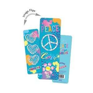 3D Bookmark Smarties Candies Peace Love Hearts Office