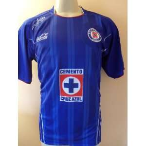 CRUZ AZUL  MEXICO SOCCER JERSEY SIZE LARGE .NEW.: Sports