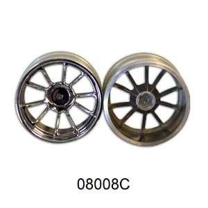 Chrome 10 Spoke Wheels 2pcs