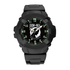 Combat Watch with Black Case and PU Strap, POW/MIA Electronics