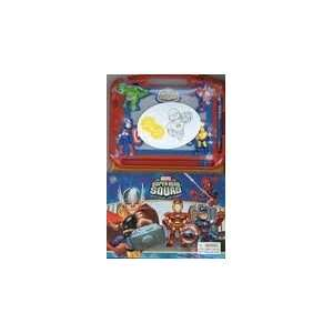 com Marvel SUPER HERO SQUAD MAGNETIC DRAWING KIT With Storybook Iron