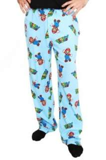 Nintendo Super Mario Bros Blue Pajama Pants Clothing