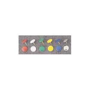 UNIVERSAL Steel Head Thumb Tacks, 5/16 Point, Assorted Colors, 60 per