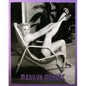 Monroe Black and White Theatrical Metal Artwork