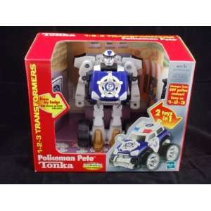 Tonka Transformers   Policeman Pete with Electronic Action