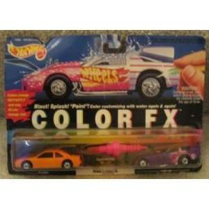 1993 Hot Wheels Color Fx Race Cars Set  93 T bird and Funny Car with
