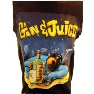 Snoop Dogg Mens T Shirt   Gin and Juice Dogg on Black