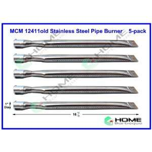 12411 (5 pack) Universal Straight Stainless Steel Pipe
