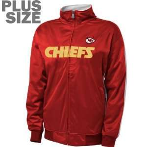 Kansas City Chiefs Womens Plus Size Full Zip Track Jacket