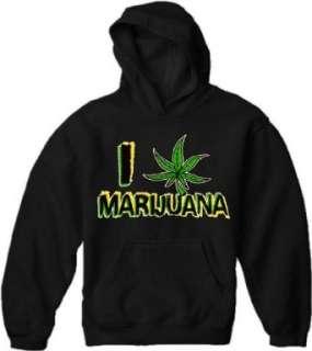 Pothead & Stoner Sweatshirts   I Love Marijuana Hoodie Clothing