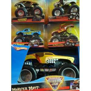 Hot Wheels Diecast Monster Jam Monster Mutt 1/24 Backwards Bob