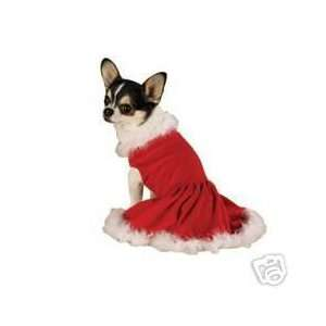Zack & Zoey Velvet Mrs Santa Claus Dog Dress XX SMALL