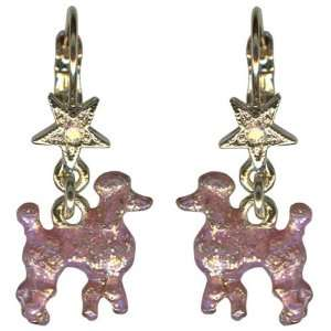 kirks folly pink poodle earrings leverback Toys & Games