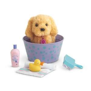 American Girl Grooming Tub Set with Golden retriever puppy  Toys