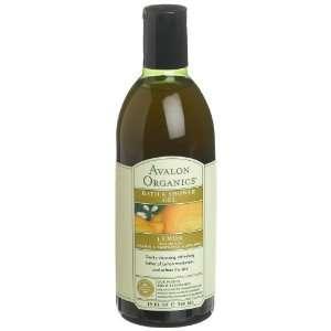 Avalon Organics Bath & Shower Gel, Lemon, 12 Ounces (Pack