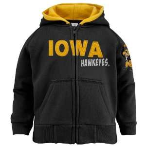 Iowa Hawkeyes Toddler Black Fury Full Zip Hoody Sweatshirt