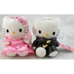 Hello Kitty&daniel Wedding Plush Dolls Pink/black Toys
