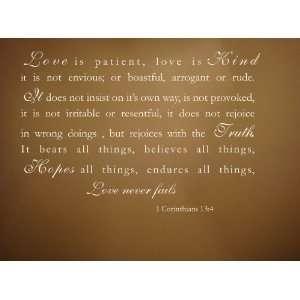 Love is Patient 22x16 vinyl wall decal