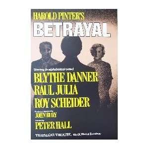 BETRAYAL (ORIGINAL BROADWAY THEATRE WINDOW CARD)