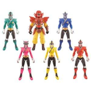 Power Rangers Samurai Mega Ranger Fire, Forest, Sky, Earth, Water