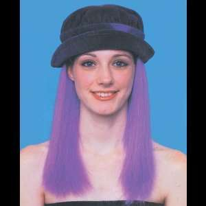 Chic Wig Purple Hair & Purple Hat Toys & Games