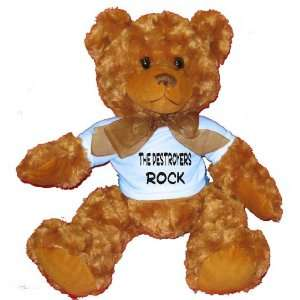 the Destroyers Rock Plush Teddy Bear with BLUE T Shirt