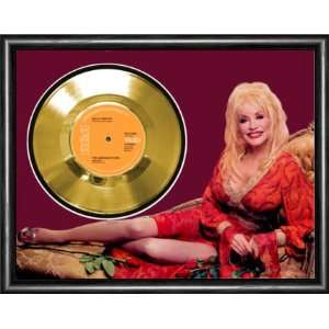 Dolly Parton The Bargain Store Framed Gold Record A3
