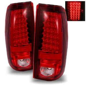 99 02 Chevy Silverado 1500/2500/3500 Red/Clear Tail Lights Automotive