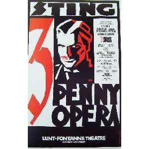 3 PENNY OPERA (ORIGINAL BROADWAY THEATRE WINDOW CARD
