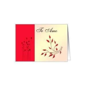 Te Amo Con Flores Card