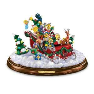 Dashing Through The Snow Collectible Simpsons Figurine Christmas